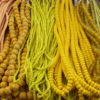 Yellow is a popular color for African Beads