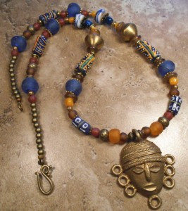 Beautiful necklace made from mixed African beads
